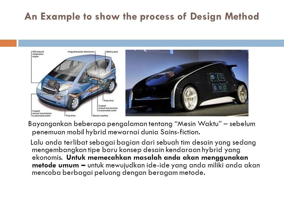 """An Example to show the process of Design Method Bayangankan beberapa pengalaman tentang """"Mesin Waktu"""" – sebelum penemuan mobil hybrid mewarnai dunia S"""