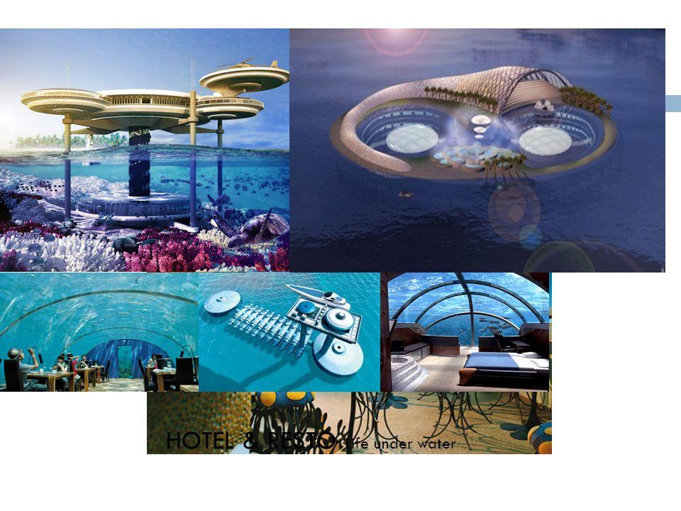 HOTEL & RESTO Life under water