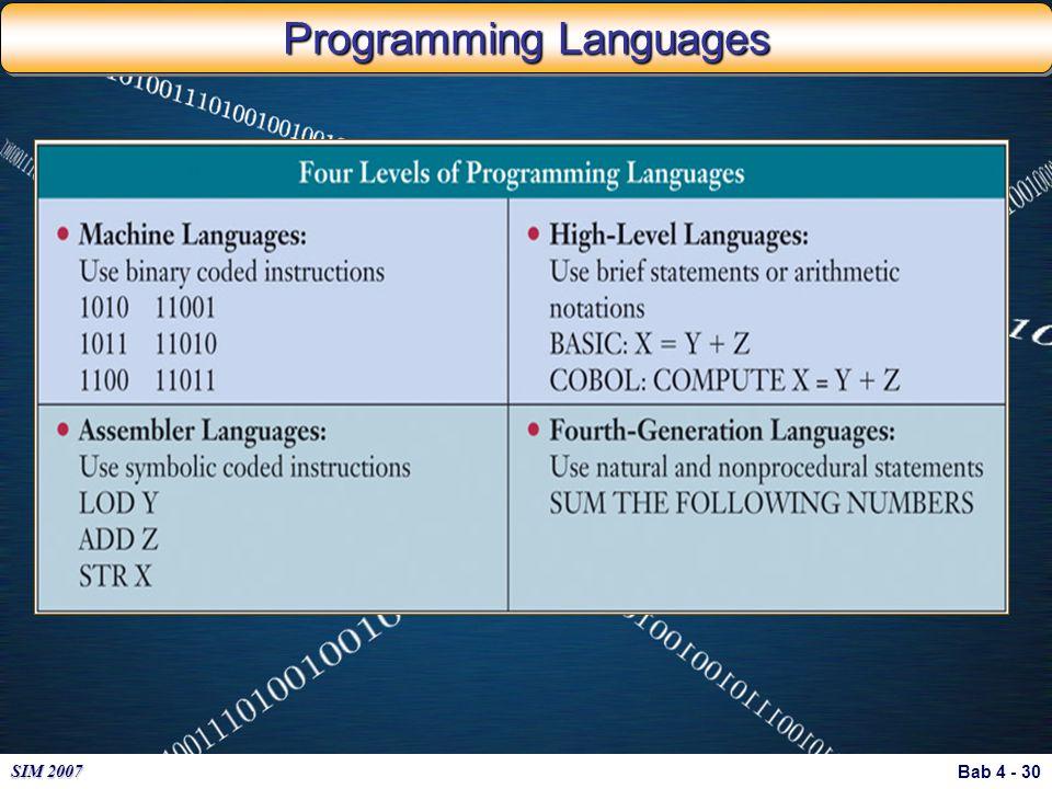 Bab 4 - 30 SIM 2007 Programming Languages