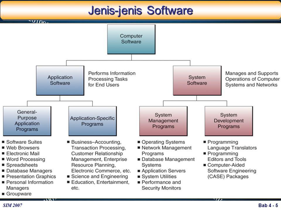 Bab 4 - 5 SIM 2007 Jenis-jenis Software