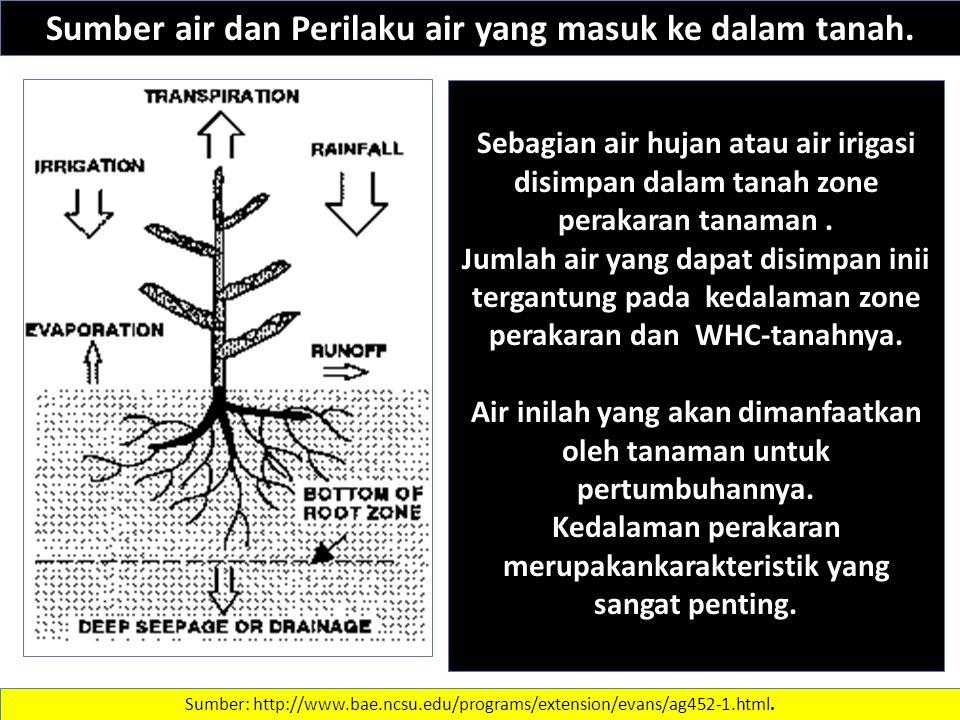 Sumber air dan Perilaku air yang masuk ke dalam tanah.