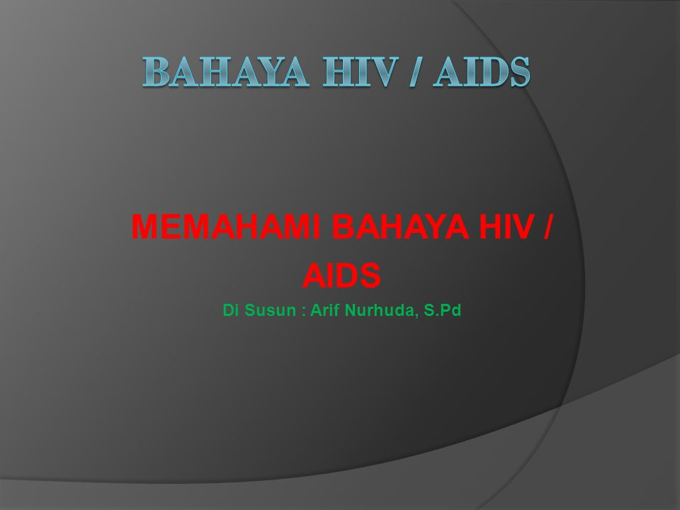 OBAT HIV/AIDS  AZT ( Azidothymidine) mampu menahan perkembangan virus, efek samping kerusakan tulang sumsum, anemia berat, penderita trasfusi darah  DDI ( Diseoxycitidine) mampu menahan repruduksi virus dalam darah, tidak menimbulkan efek yang fatal  DDC ( Zalcitabine) dapat menahan perkembangan virus