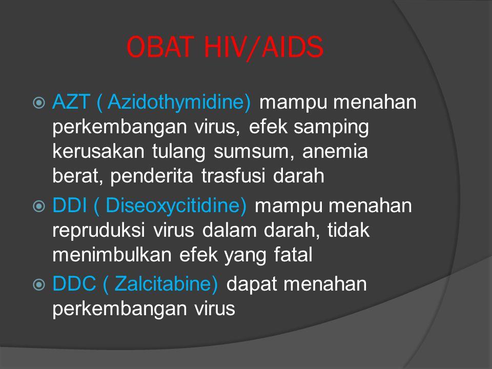 CARA PENCEGAHAN HIV/AIDS  Selalu menggunakan jarum suntik yang steril  Selalu menerapkan kewaspadaan seks yang aman  Bila ibu hamil dalam keadaan H