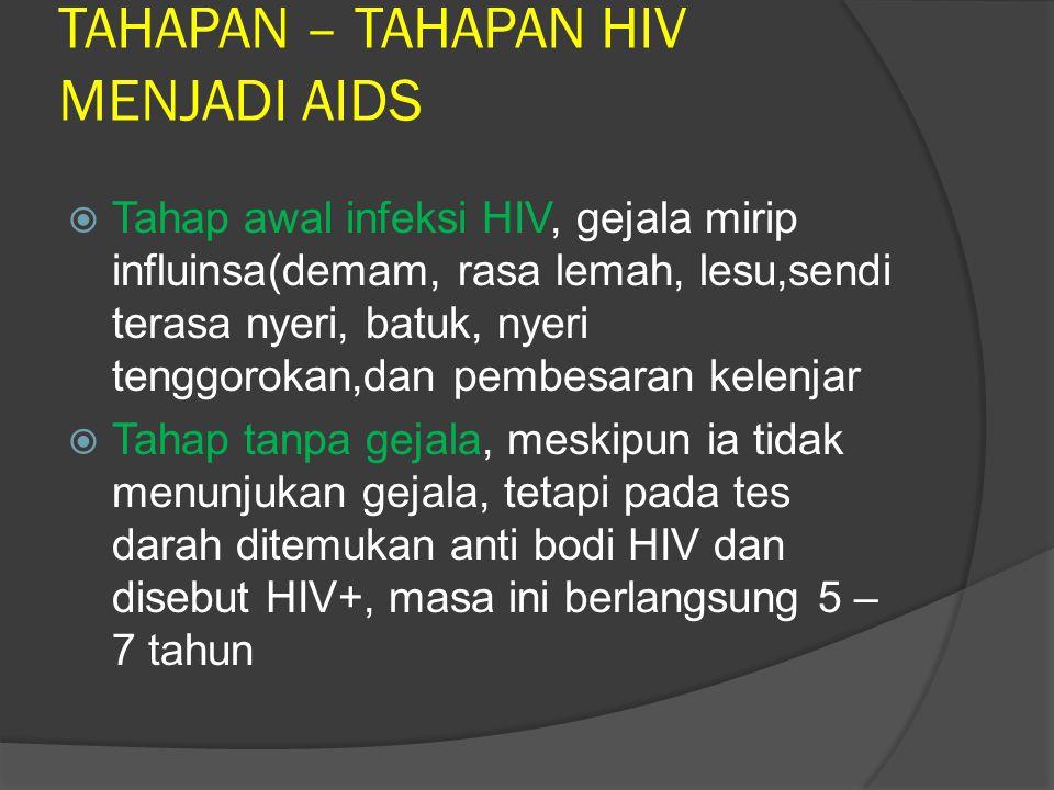 KELOMPOK BERESIKO TINGGI TERKENA HIV/AIDS  Homoseksual  Heteroseksual  Biseksual  Pecandu Narkoba