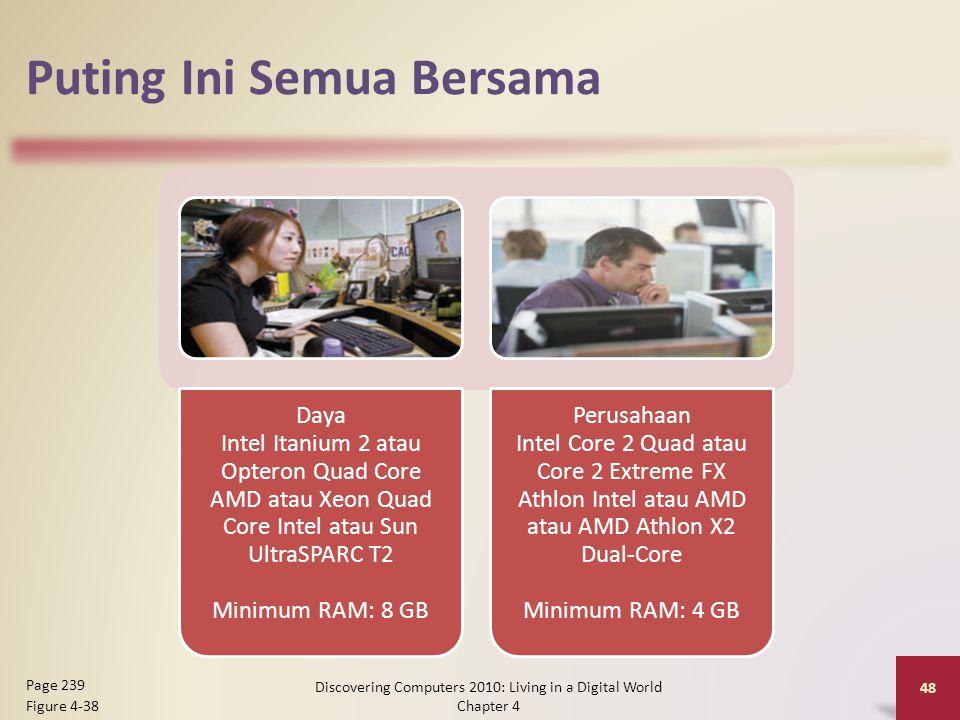 Puting Ini Semua Bersama Daya Intel Itanium 2 atau Opteron Quad Core AMD atau Xeon Quad Core Intel atau Sun UltraSPARC T2 Minimum RAM: 8 GB Perusahaan