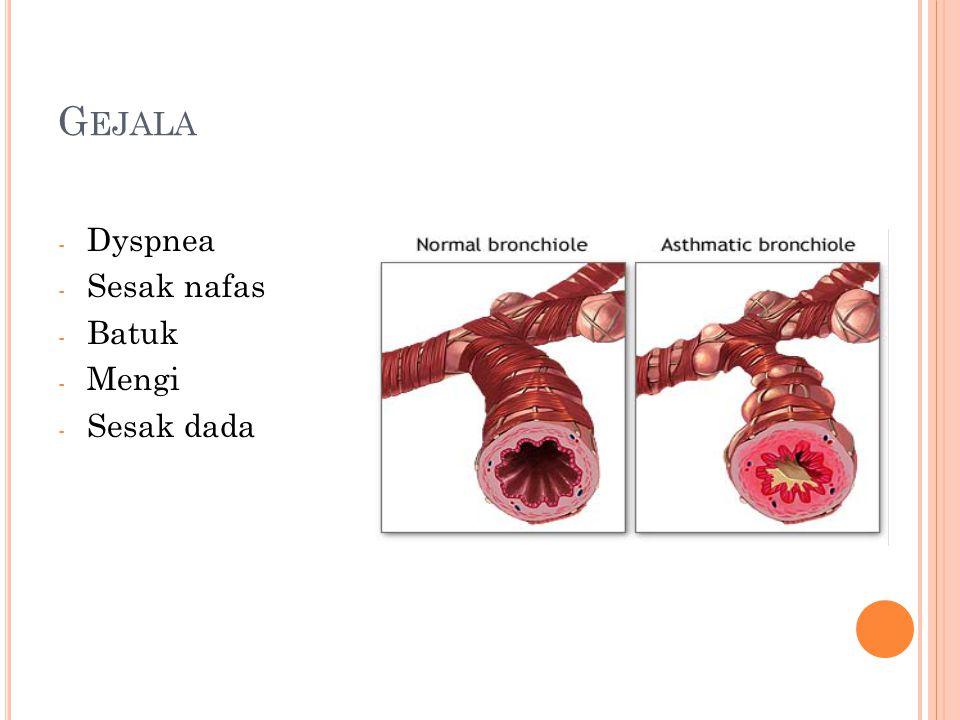 G EJALA - Dyspnea - Sesak nafas - Batuk - Mengi - Sesak dada