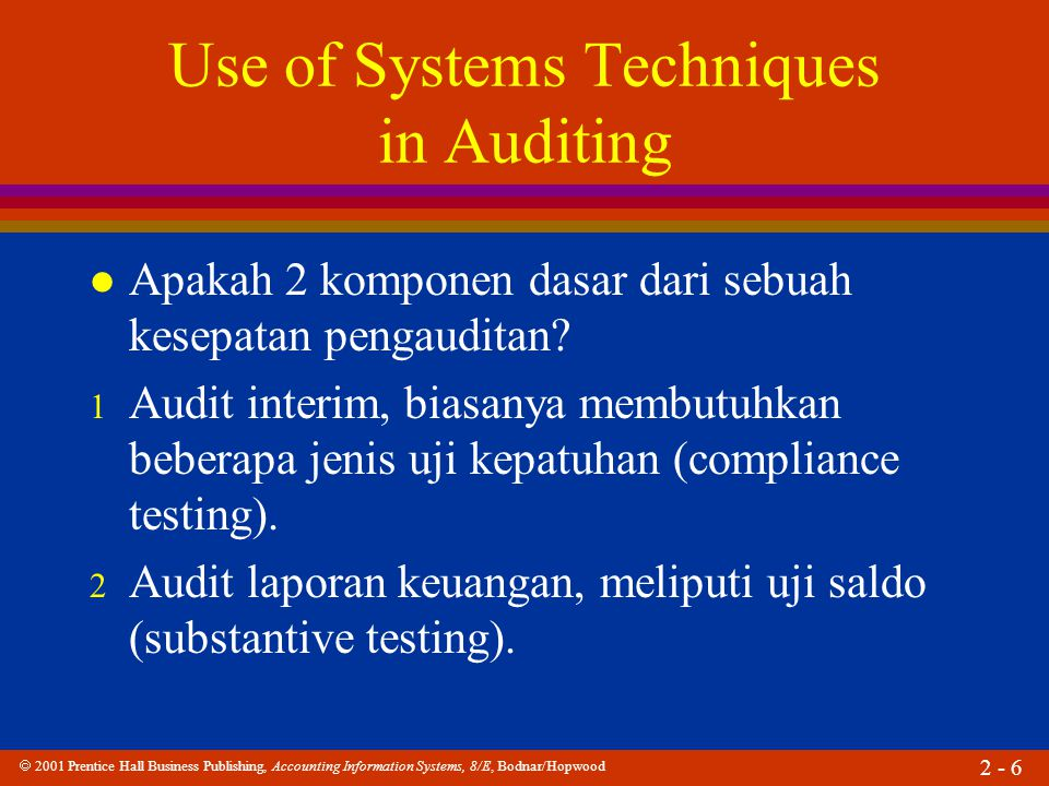  2001 Prentice Hall Business Publishing, Accounting Information Systems, 8/E, Bodnar/Hopwood 2 - 17 Simbol Dasar Input/Output Proses Arus dokumen Anotasi