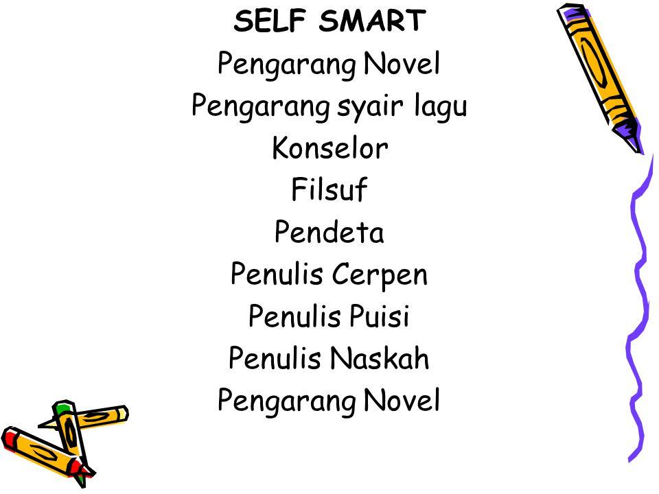SELF SMART Pengarang Novel Pengarang syair lagu Konselor Filsuf Pendeta Penulis Cerpen Penulis Puisi Penulis Naskah Pengarang Novel