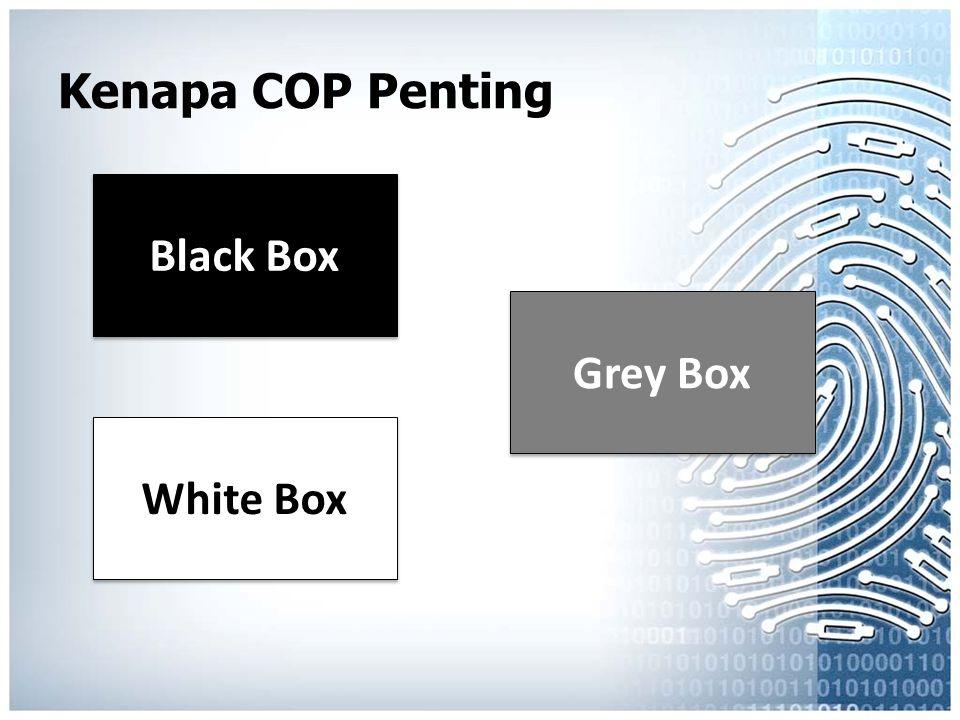 Kenapa COP Penting Black Box White Box Grey Box