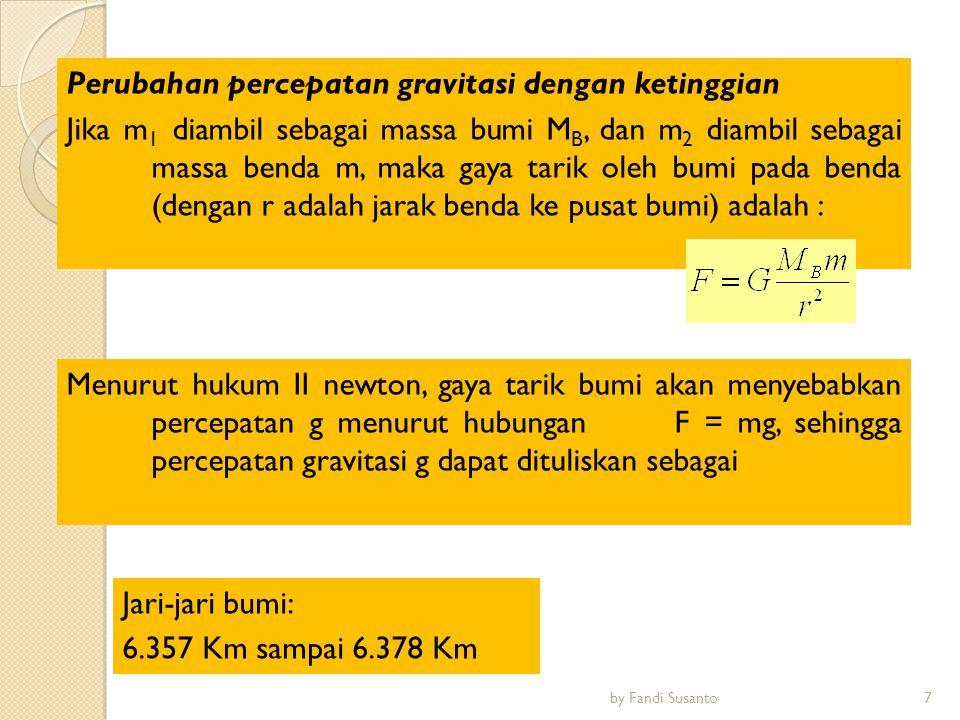 Pada ketinggian berapa di atas permukaan bumi, percepatan gravitasi bernilai 4,9 m/s.