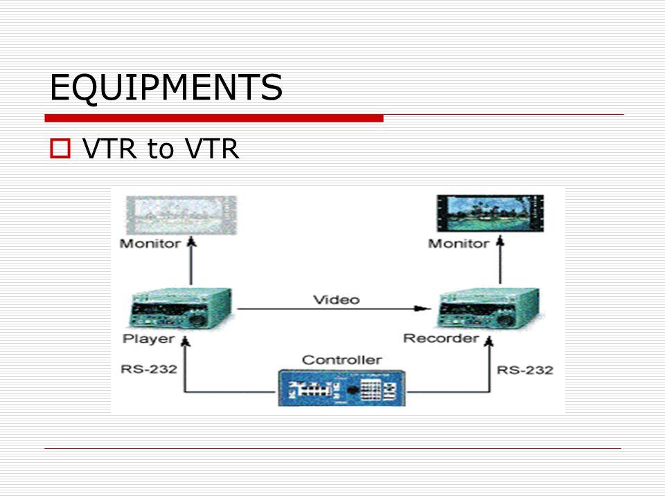 EQUIPMENTS  VTR to VTR