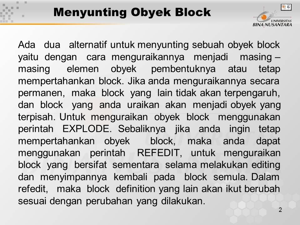 13 Menyunting Obyek Block Membuat file baru dengan WBLOCK