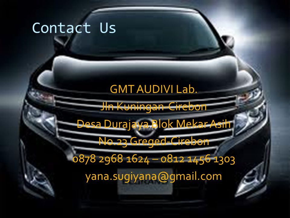 Contact Us GMT AUDIVI Lab.