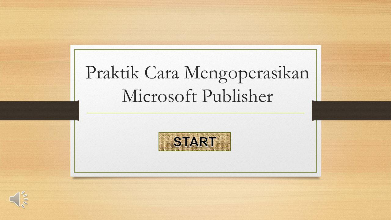 10.Bagian yang menampilkan beberapa pilihan pemformatan publisher adalah...