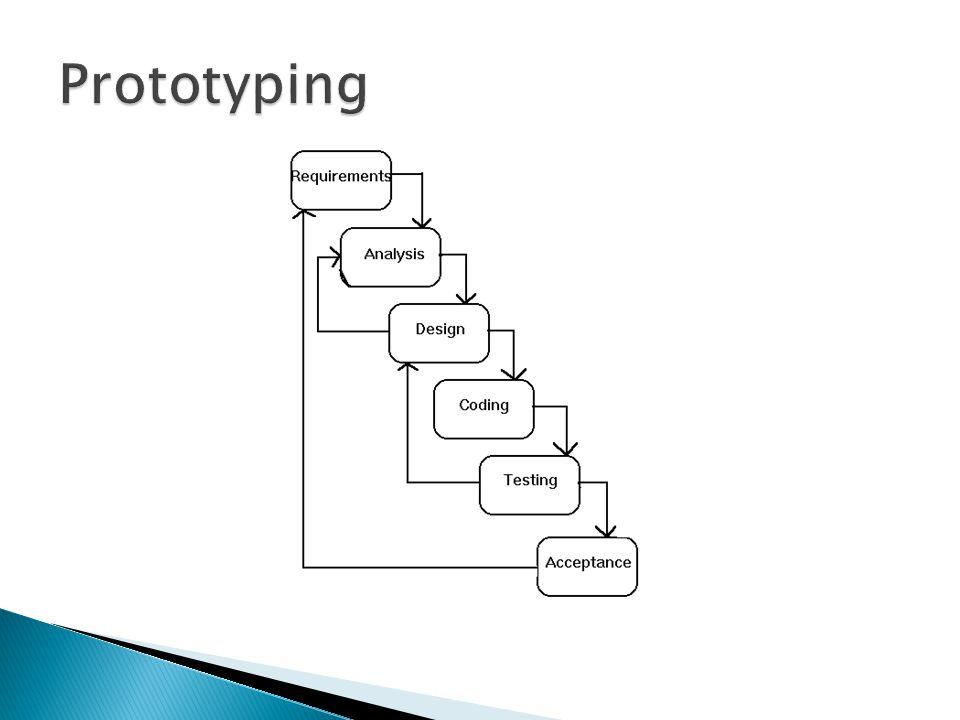  Keuntungan prototyping ◦ Meningkatnya komunikasi antara pengembang dan pengguna ◦ Pengembang dapat melakukan pekerjaan yang lebih baik dalam menentukan kebutuhan pengguna ◦ Pengguna memerankan kebutuhan yang lebih aktif dalam pengembangan sistem ◦ Pengembang dan pengguna menghabiskan waktu yang lebih sedikit dalam mengembangkan sistem ◦ Implementasi menjadi jauh lebih mudah karena pengguna tahu apa yang diharapkannya