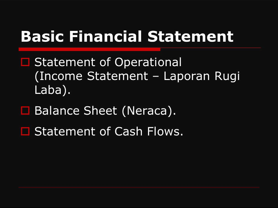 Income Statement Operating Revenues (The actual and/or expected cash inflows resulting from activities that central to the on going operation).