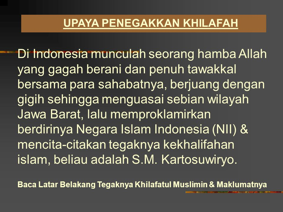 KEVAKUMAN KHILAFAH ISLAMIYAH Kekhalifahan Islam berakhir dan runtuh ditangan Kekhalifahan Bani Utsmani di Turki pada tahun 1924 dan sejak saat itu umat Ismal diseluruh dunia tidak mampu menggantikannya.