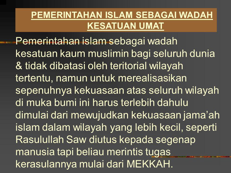 UPAYA PENEGAKKAN KHILAFAH Di Indonesia munculah seorang hamba Allah yang gagah berani dan penuh tawakkal bersama para sahabatnya, berjuang dengan gigih sehingga menguasai sebian wilayah Jawa Barat, lalu memproklamirkan berdirinya Negara Islam Indonesia (NII) & mencita-citakan tegaknya kekhalifahan islam, beliau adalah S.M.