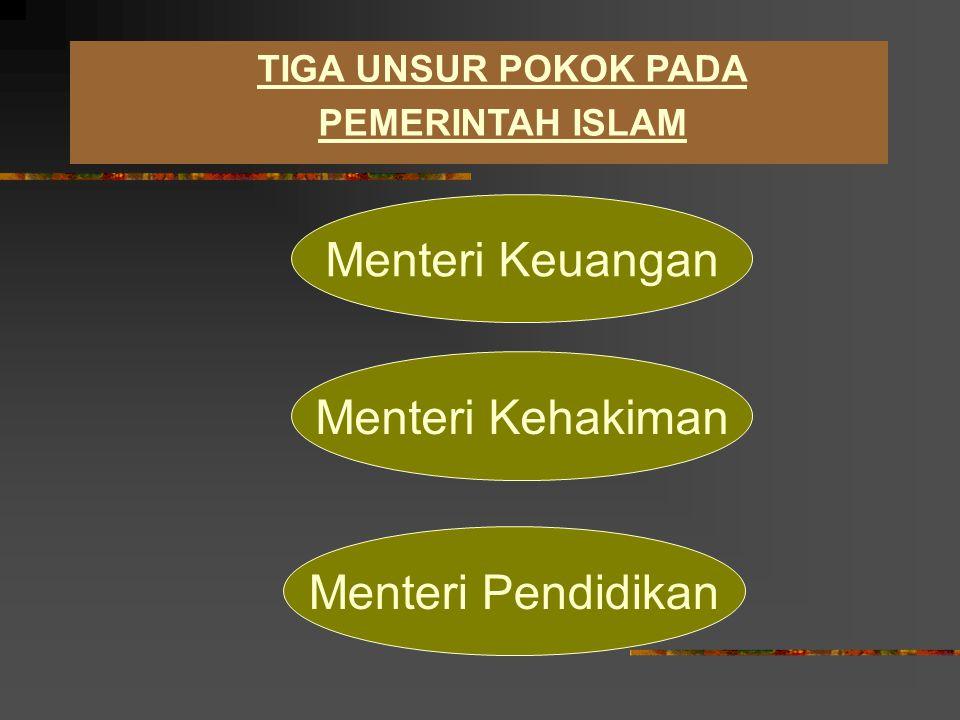 Dewan Imamah (para mutasyar) : adalah Orang- orang yang jujur dan mempunyai ilmu tentang Al- Qur'an dan Hadits bertugas membantu Imam berfikir memecahkan persoalan penting demi kemaslahatan Islam dan Ummatnya.