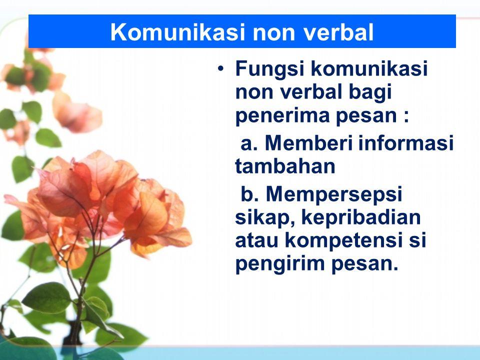Komunikasi non verbal c.