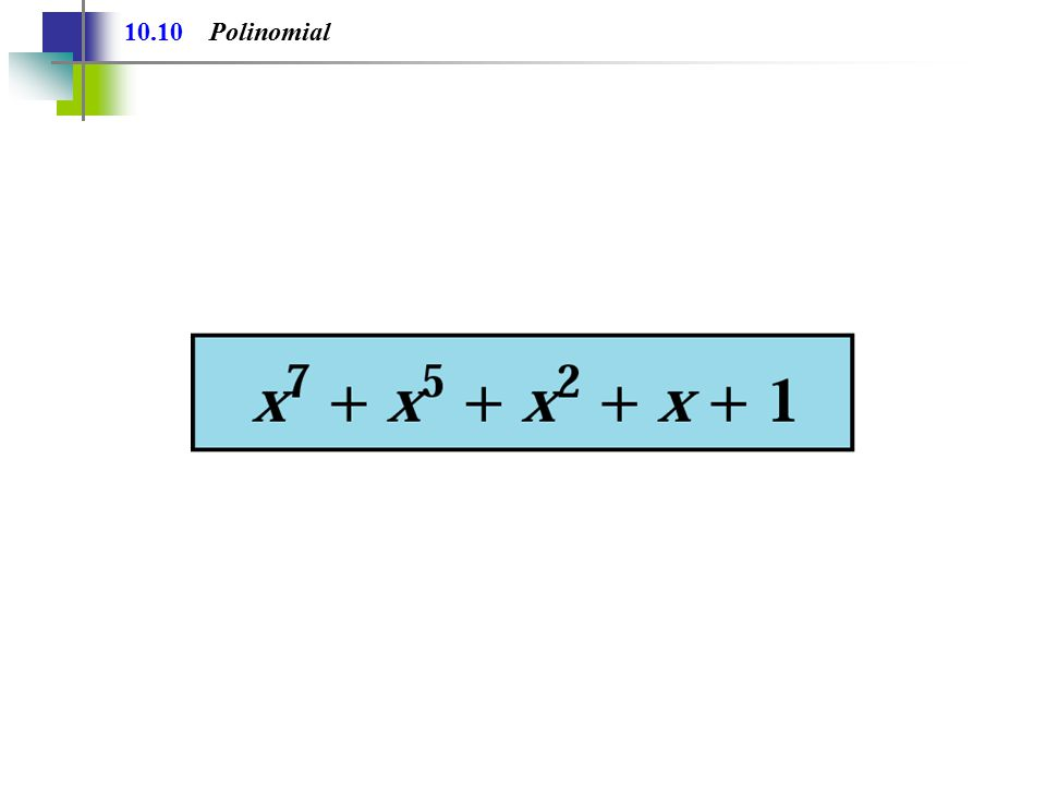 10.10 Polinomial