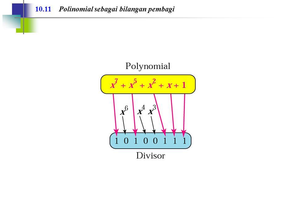 10.11 Polinomial sebagai bilangan pembagi