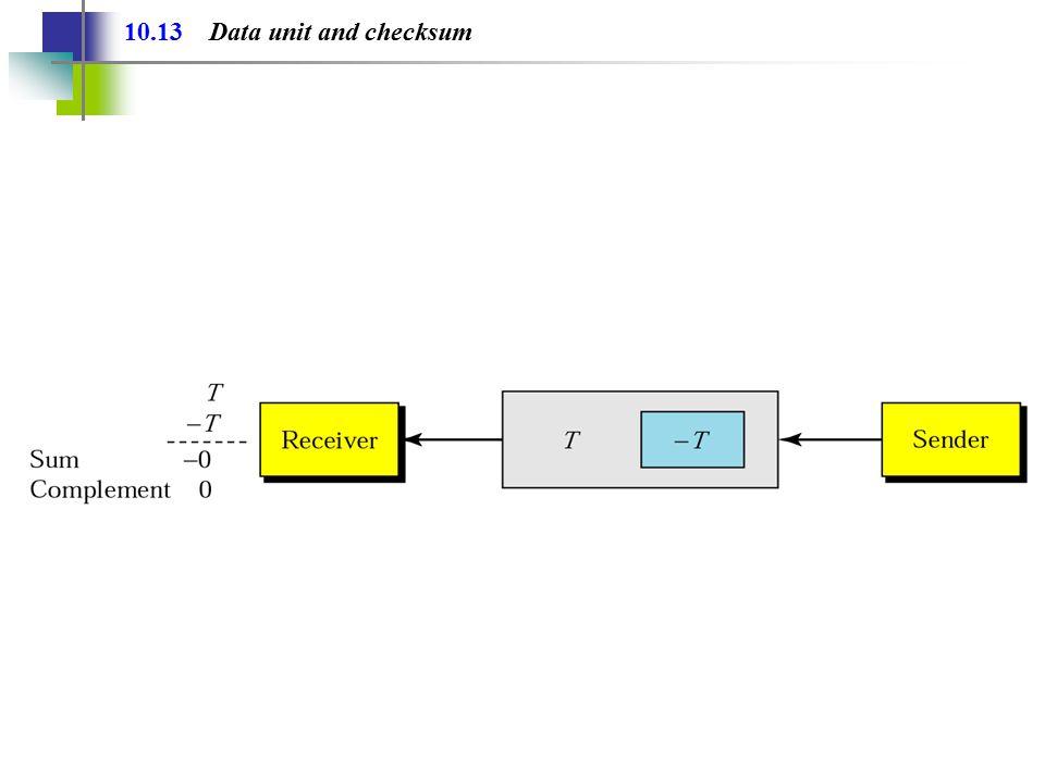 10.13 Data unit and checksum