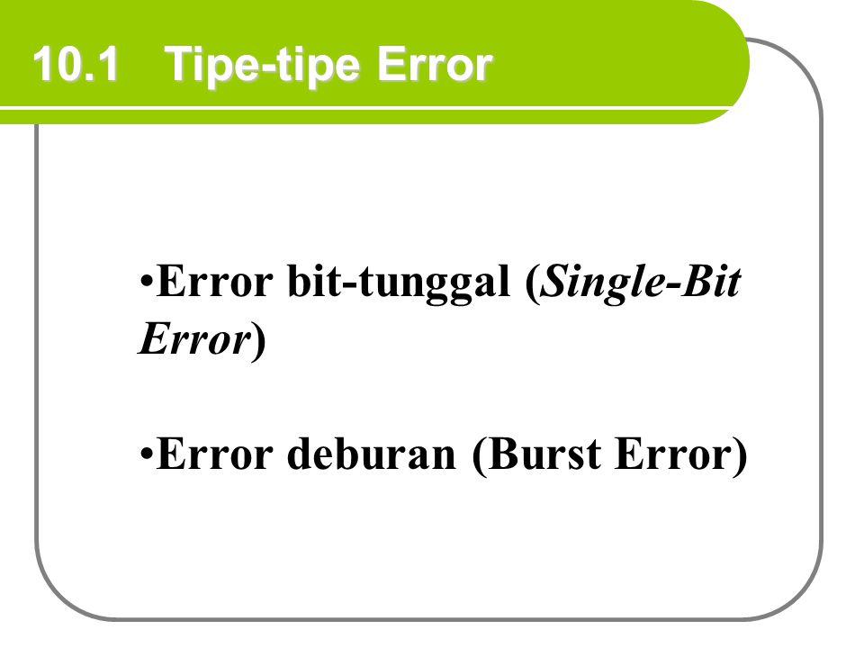 Contoh 8 Sekarang anggap suatu penerima menerima pola bit yang dikirim oleh pengirim seperti Contoh 7 dan anggap tanpa error pada transmisi.