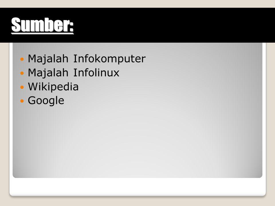 Majalah Infokomputer Majalah Infolinux Wikipedia Google