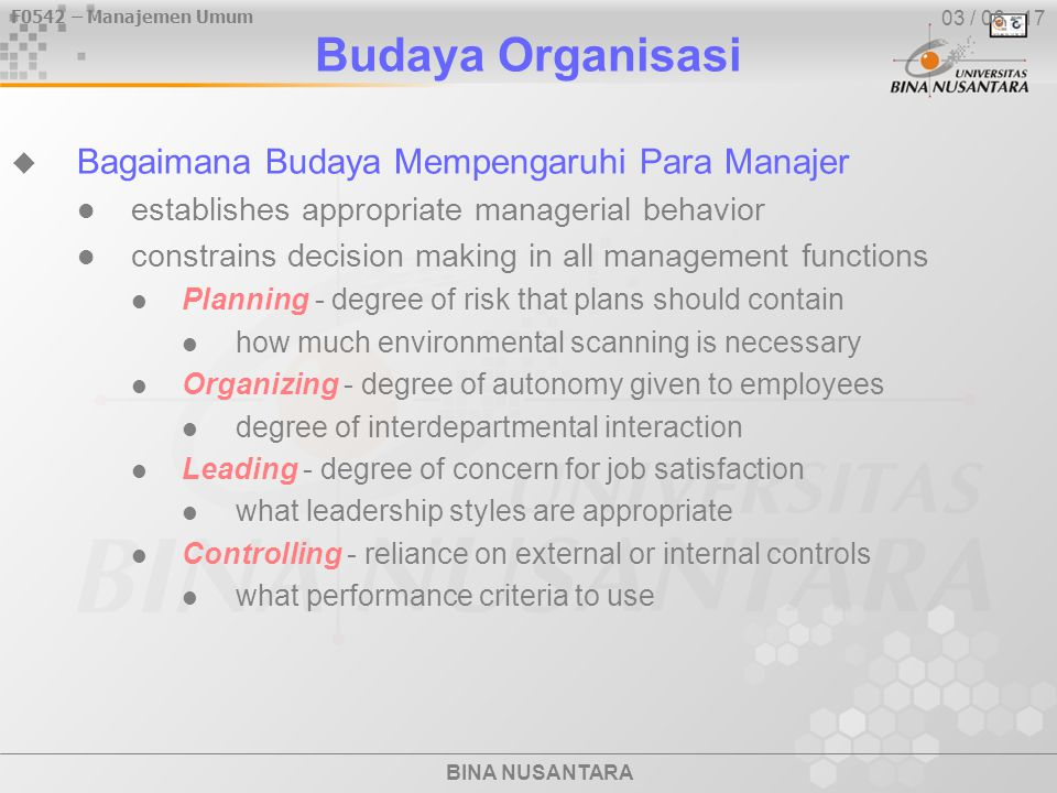 F0542 – Manajemen Umum BINA NUSANTARA Lingkungan  Stakeholder Relationship Management How can these relationships be managed.