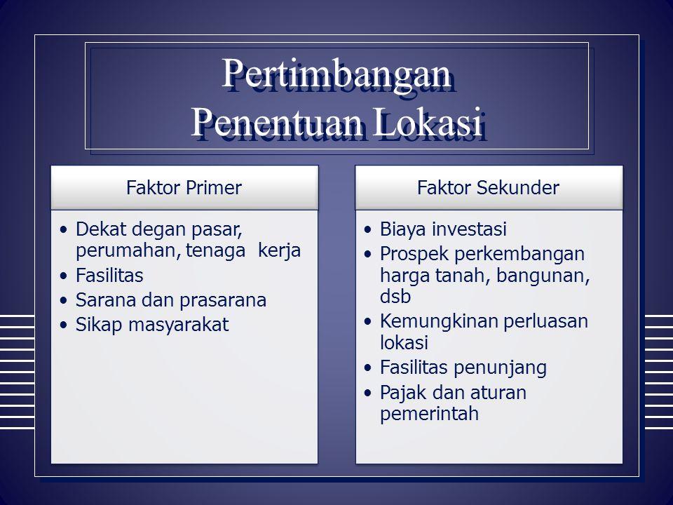 Penentuan Lokasi Kantor Pusat  Di ibu kota negara atau provinsi  Dekat pemerintah