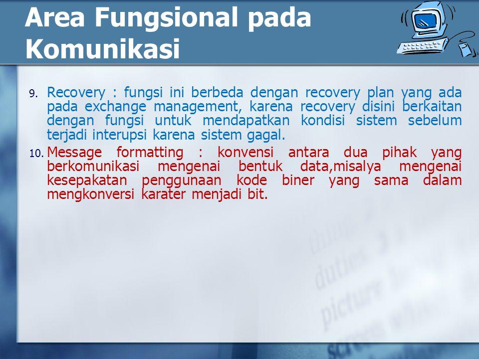 Area Fungsional pada Komunikasi 9.