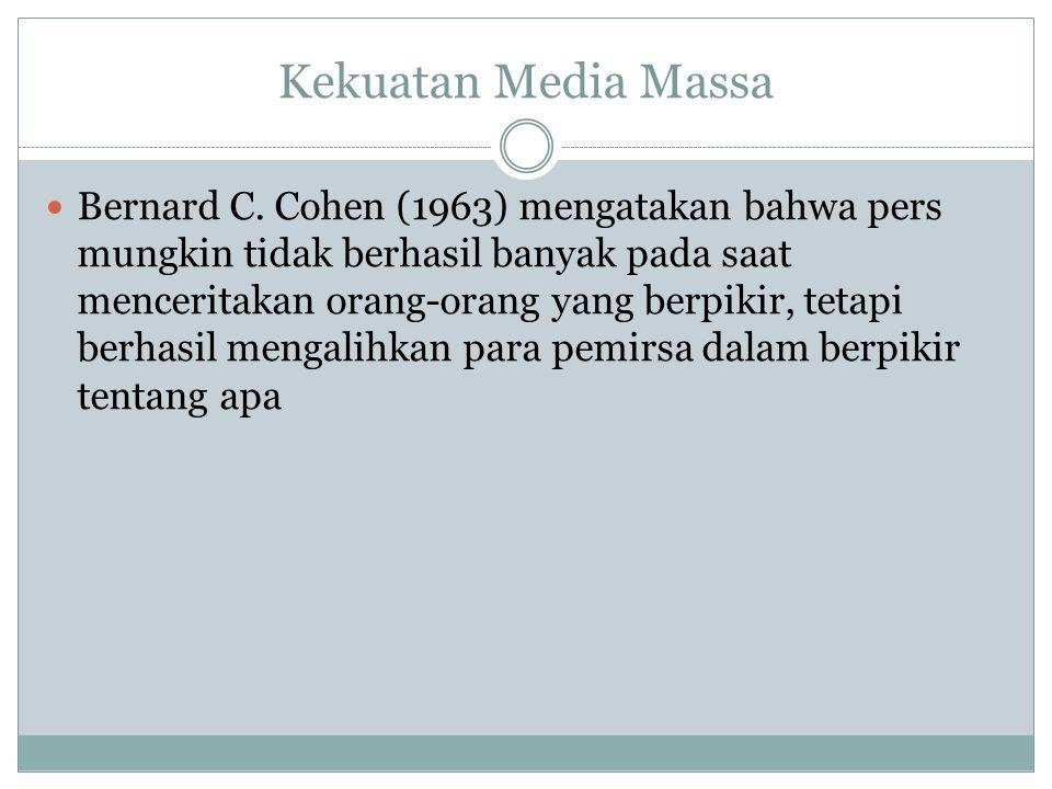 Kekuatan Media Massa Bernard C.