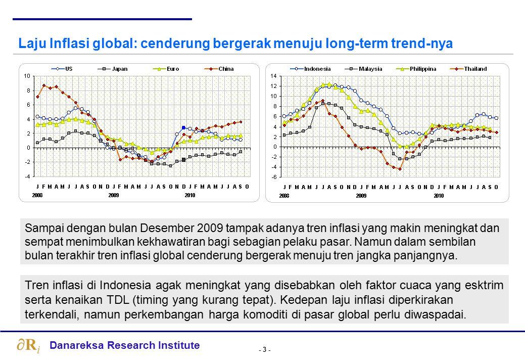- 14 - Danareksa Research Institute RiRi Perkiraan Pertumbuhan Ekonomi Beberapa Negara, % Hanya sedikit negara yang bertumbuh positif di tahun 2009.