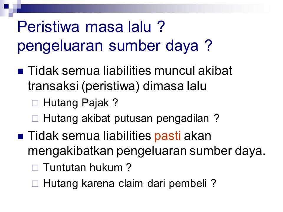 Klasifikasi Kewajiban Accounting Liabilities Executory Contracted Liabilities Contingent Liabilities Estimated Liabilities Legal Liabilities Constructive Liabilities