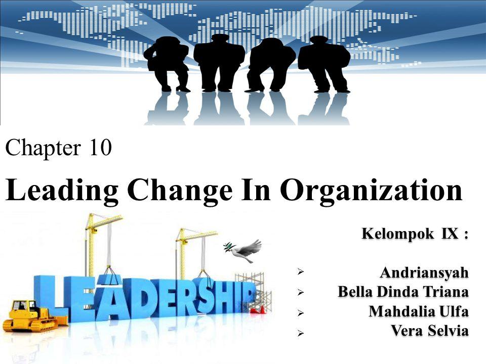 Pembahasan: Sebaiknya Richard Kelly berkomunikasi dahulu dengan para manager yang lain menjelaskan apa visi dan manfaat dari perubahan tersebut, mengapa harus dilakukan perubahan.