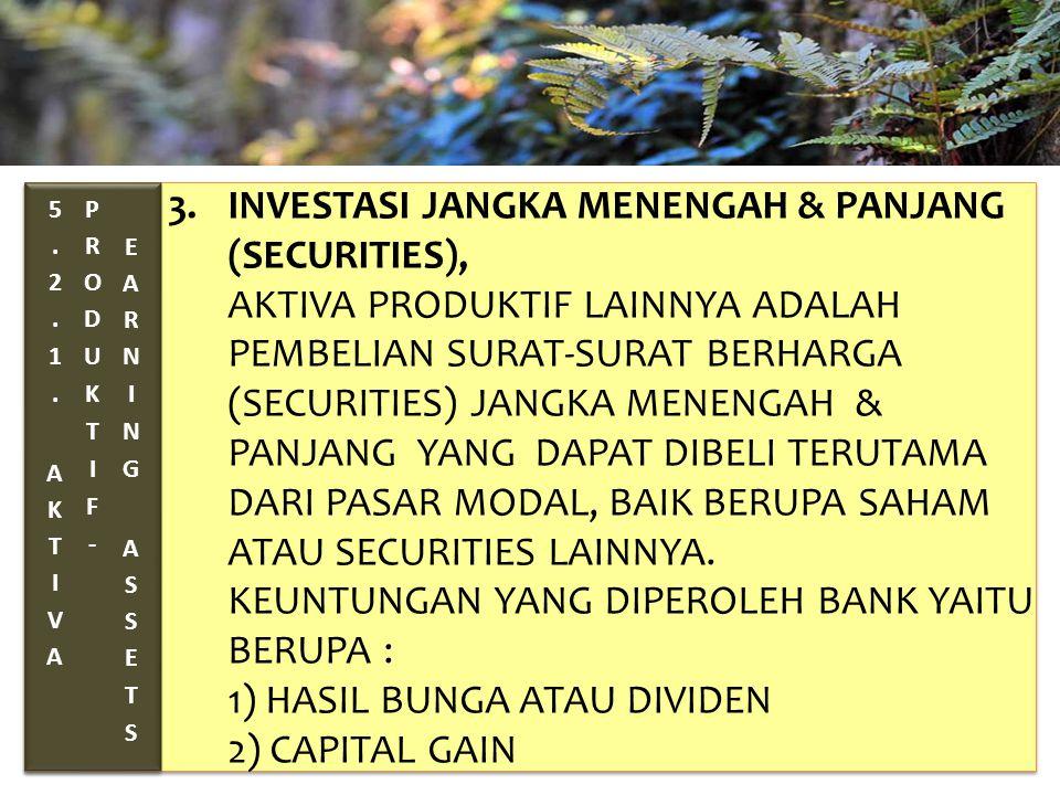 TAHUN 2012-FINNY REDJEKI S.E.,M.M.(B1075) 3. INVESTASI JANGKA MENENGAH & PANJANG (SECURITIES), AKTIVA PRODUKTIF LAINNYA ADALAH PEMBELIAN SURAT-SURAT B