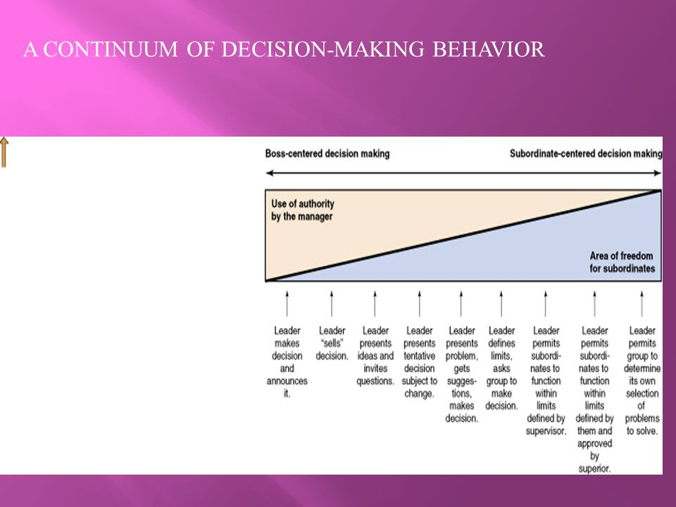 A CONTINUUM OF DECISION-MAKING BEHAVIOR