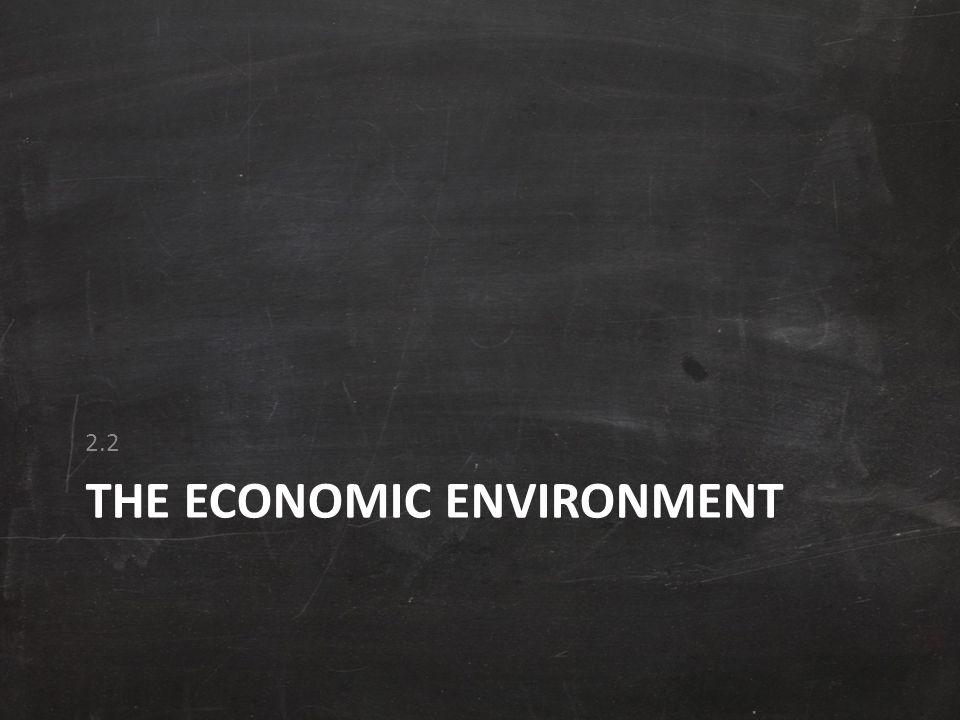 THE ECONOMIC ENVIRONMENT 2.2