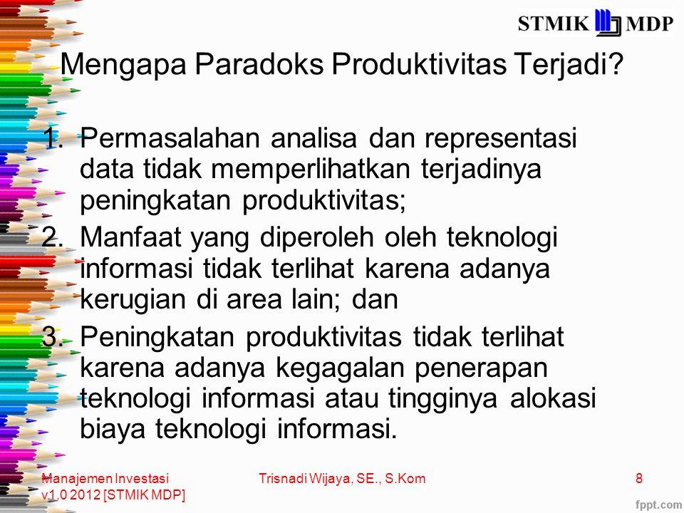 Mengapa Paradoks Produktivitas Terjadi.