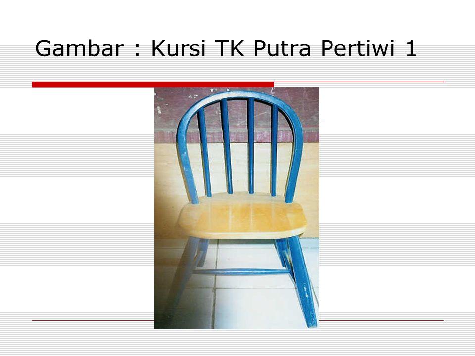 CONTOH IDENTIFIKASI KEBUTUAHAN KURSI TK Tabel 4.6.