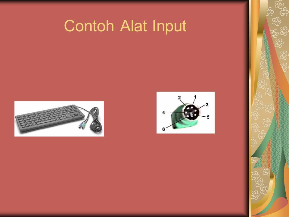 Struktur dan Fungsi Komputer b) Output Device (Alat Keluaran) Adalah perangkat keras komputer yang berfungsi untuk menampilkan keluaran sebagai hasil pengolahan data.