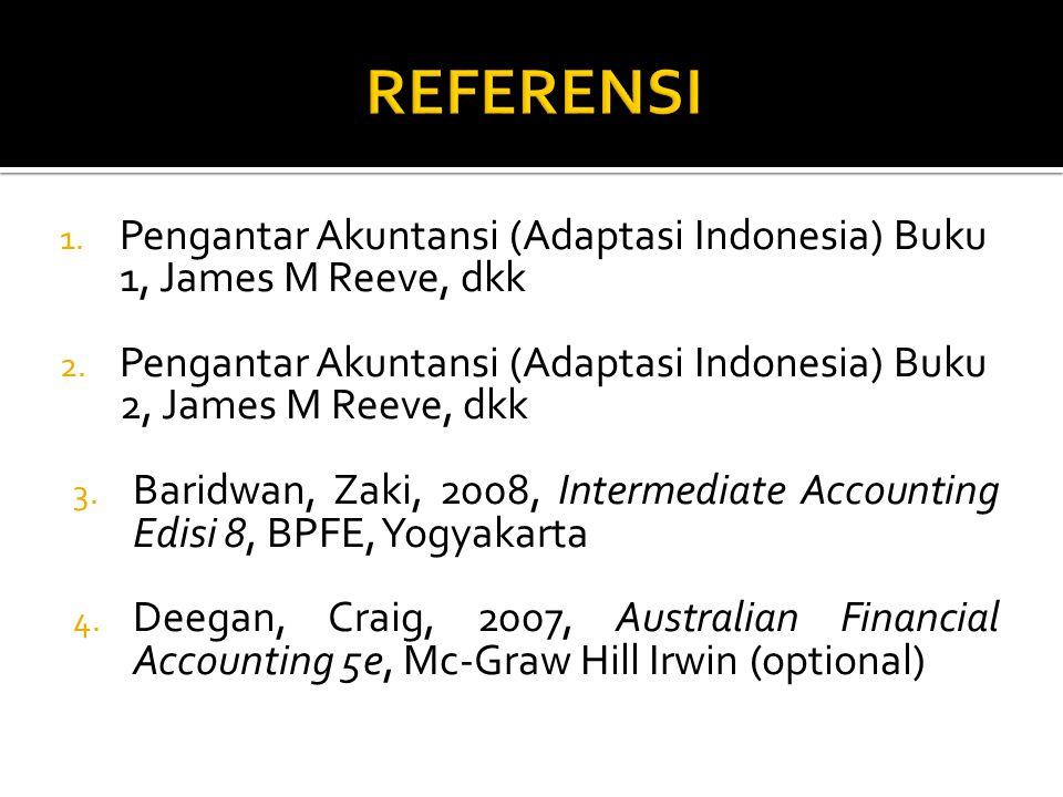 1. Pengantar Akuntansi (Adaptasi Indonesia) Buku 1, James M Reeve, dkk 2. Pengantar Akuntansi (Adaptasi Indonesia) Buku 2, James M Reeve, dkk 3. Barid