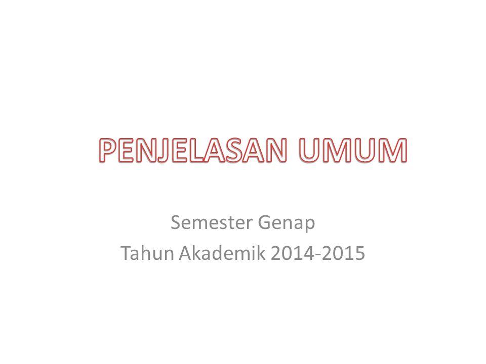 Semester Genap Tahun Akademik 2014-2015