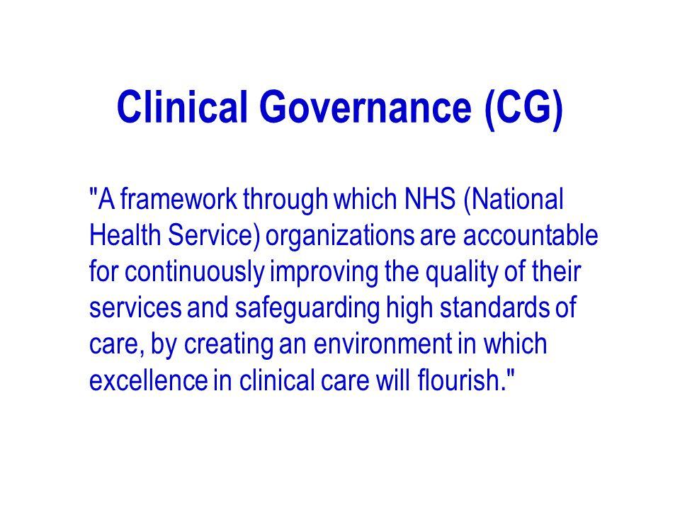 Clinical Governance (CG)