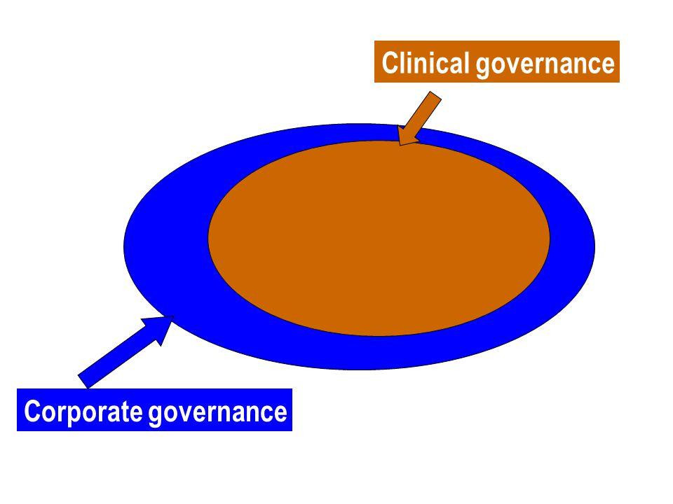 Corporate governance Clinical governance