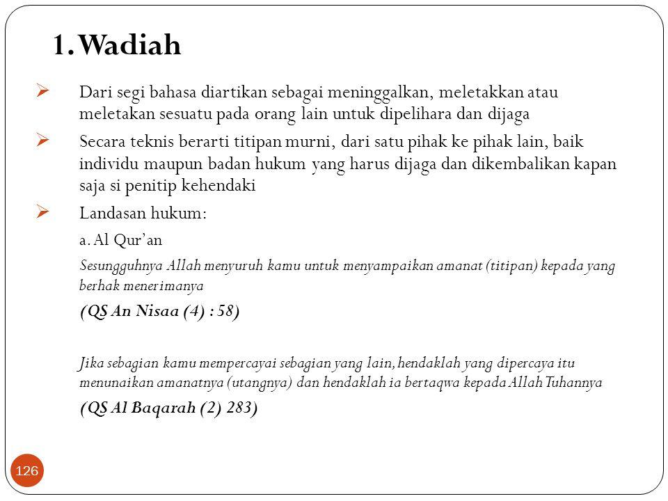 Skema Operasional Bank Syariah SUMBER DANA:  Giro Wadiah  Tab Wadiah  Tab. Mudharabah  Dep. Mudharabah  Equity POOLING DANA Bagi Hasil:  Mudhara