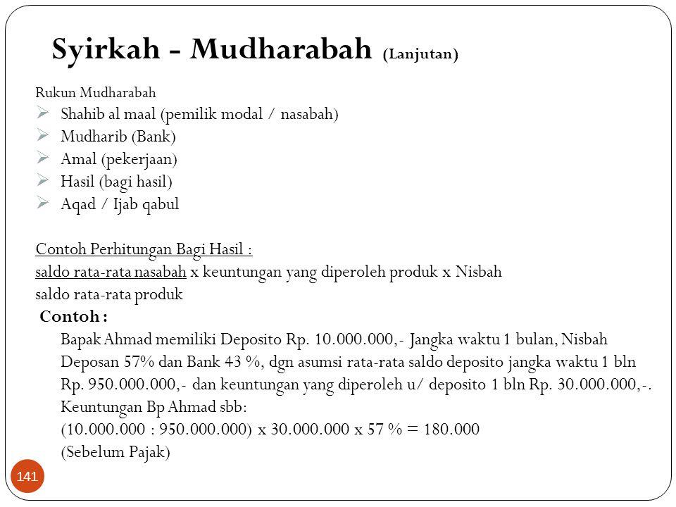 Pendanaan  Deposan bertindak sebagai shahib al maal (pemilik modal) dan bank sebagai mudharib (pengelola)  Dana dapat dipergunakan bank untuk melaku