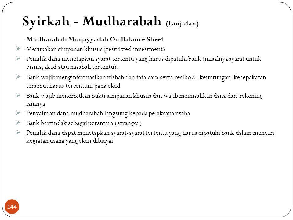 Skema Mudharabah Muthlaqah Penabung / Deposan Shahibul Maal Bank : -Mudharib -Wkl Shahibul Maal 1. Titip dana 4.Bagi Hasil 2. Pemanfaatan dana 3. Bagi