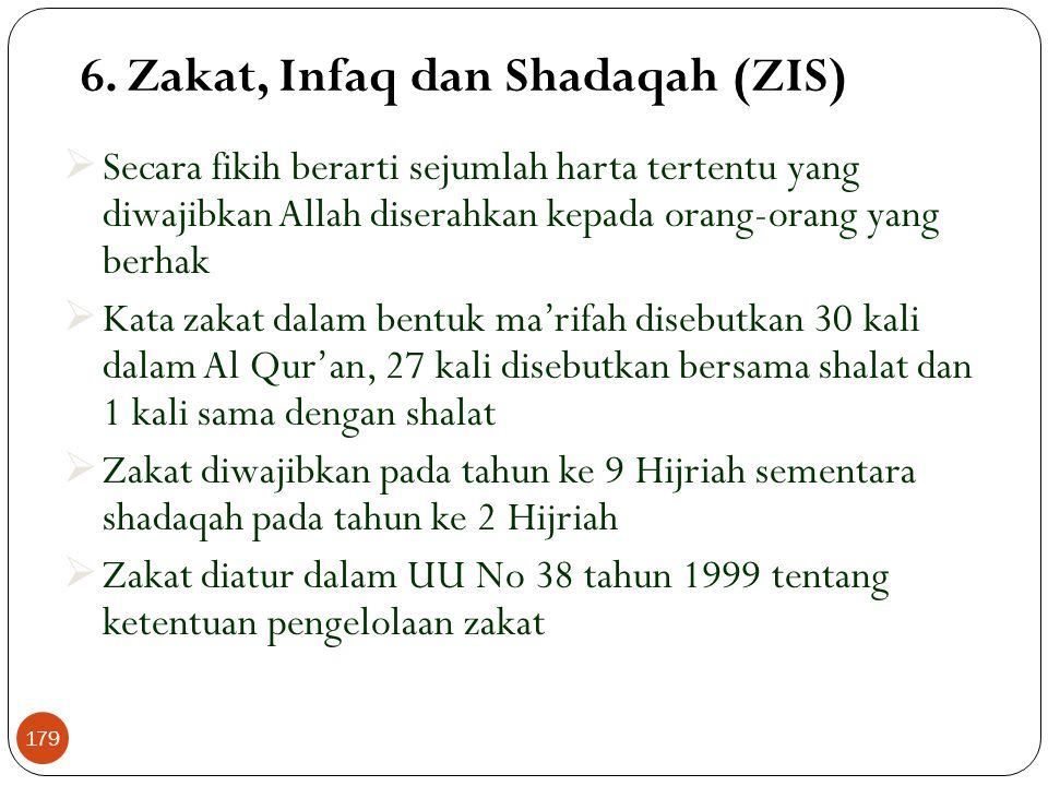 Kafalah (Lanjutan) Skema Al Kafalah Tertanggung (Jasa/Obyek) Penanggung (Bank) Ditanggung (Nasabah) 178